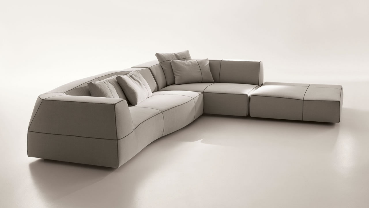 Bend sofa b b italia grande papilio b b italia charles b b for Beb it