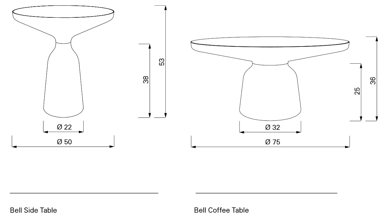 Bell Side Table & Coffee Table Classicon