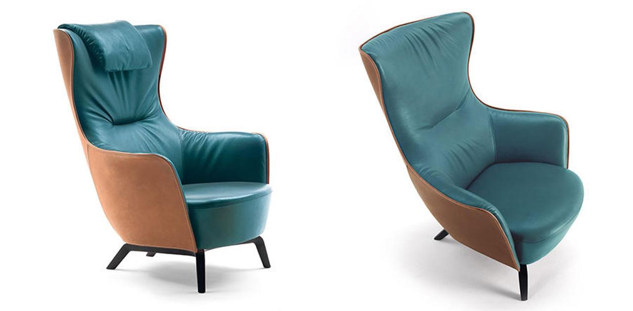 mamy blue poltrona frau armchair mamy blue poltrona frau. Black Bedroom Furniture Sets. Home Design Ideas