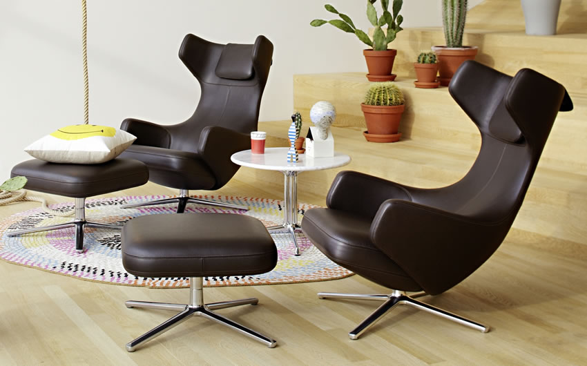 eames lounge chair vitra aluminium group vitra eames. Black Bedroom Furniture Sets. Home Design Ideas