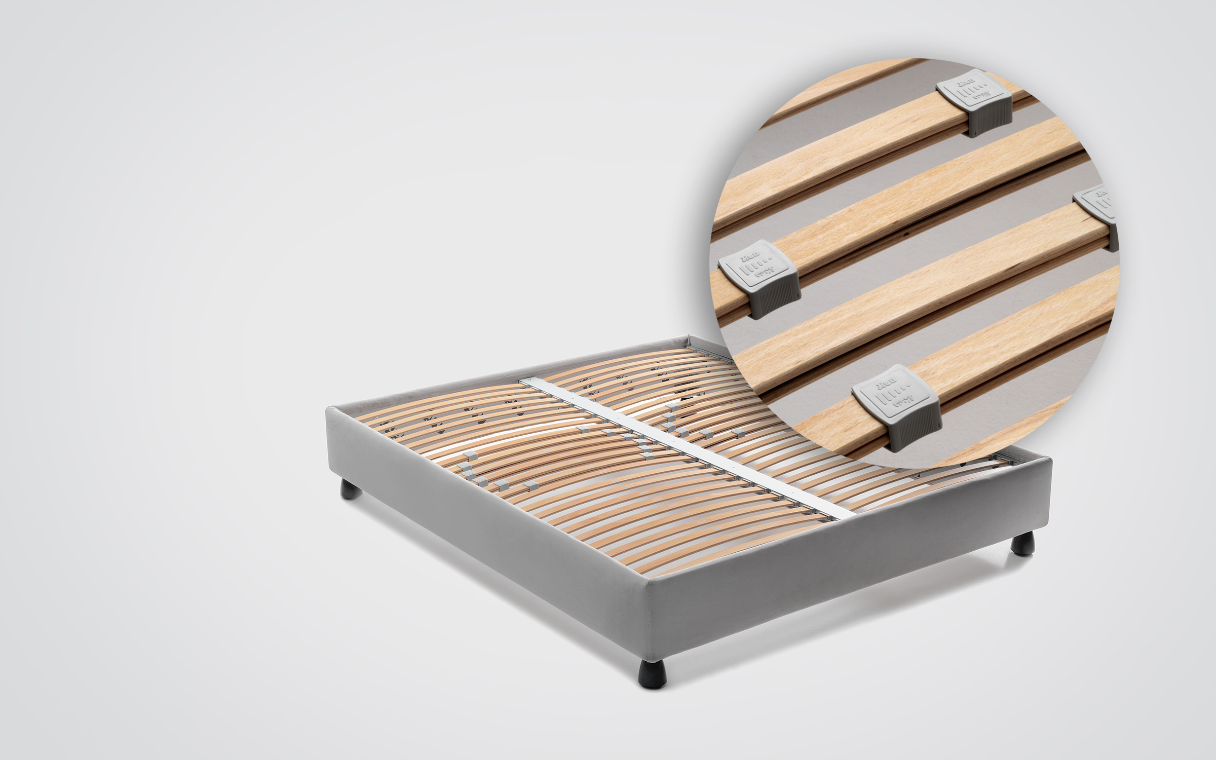 Base H25 - MATTRESS SUPPORT WITH ADJUSTABLE SLATS - Flou