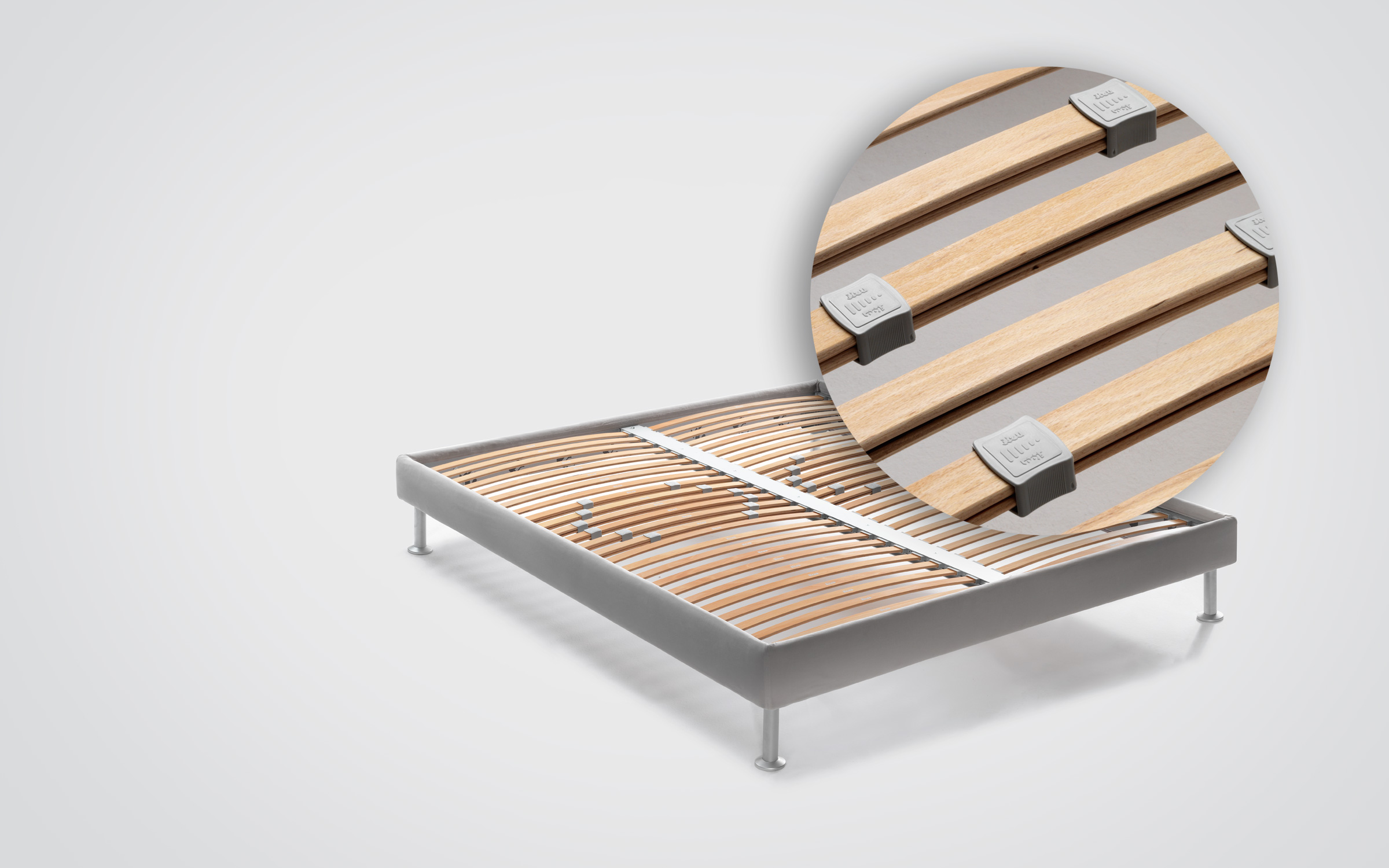 Base H16 - MATTRESS SUPPORT WITH ADJUSTABLE SLATS - Flou
