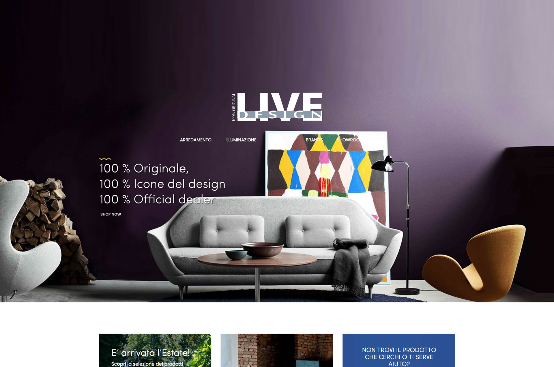 E-shop Online Live Design - www.live-design.it