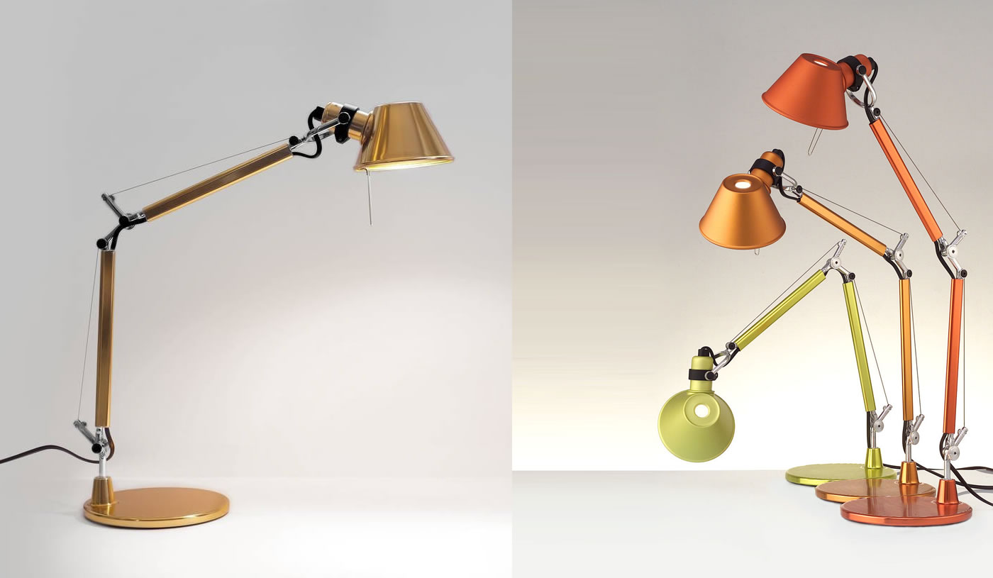 Tolomeo Artemide and Tolomeo Micro Table Artemide