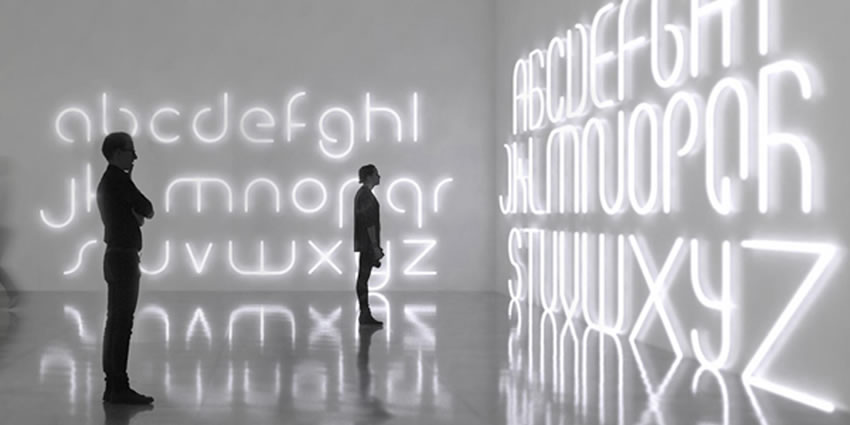 Alphabet of light Artemide
