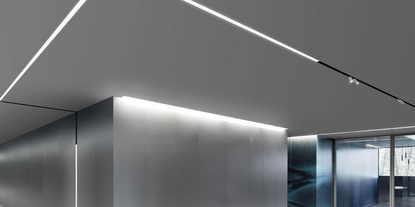 Illuminazione Da Soffitto Per Ufficio.Lampade Da Ufficio Running Magnet Flos Surf System Artemide Light