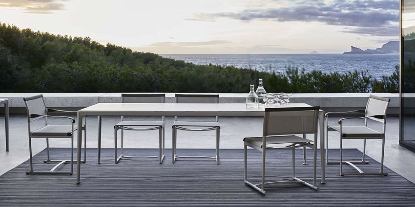 Outdoor Tables Mirto B Amp B Italia Spinnaker Roda Teka Roda