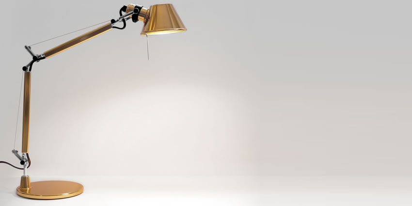 Tolomeo Micro Table Gold Artemide