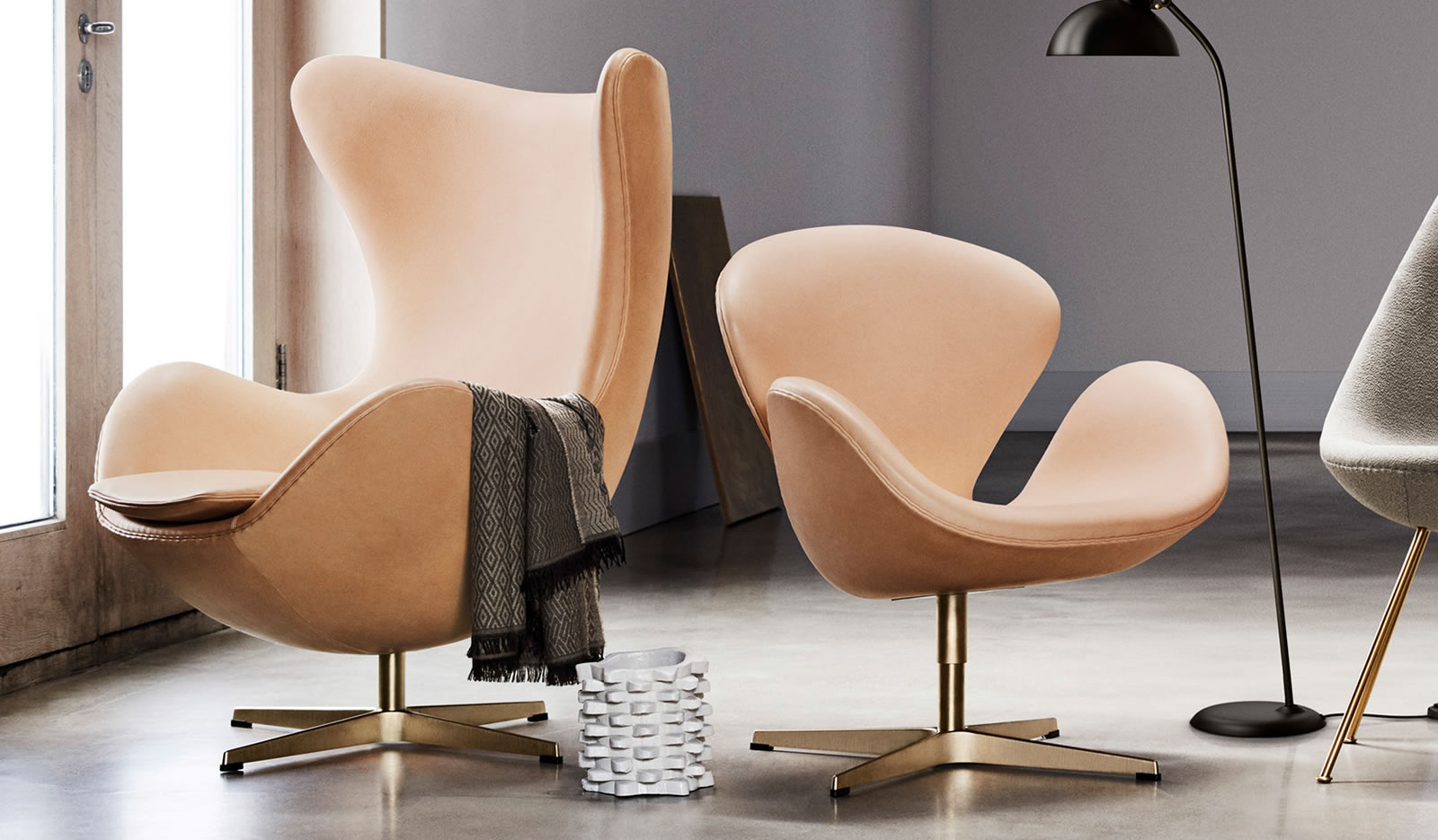 egg swan 60th anniversary fritz hansen egg 60th anniversary