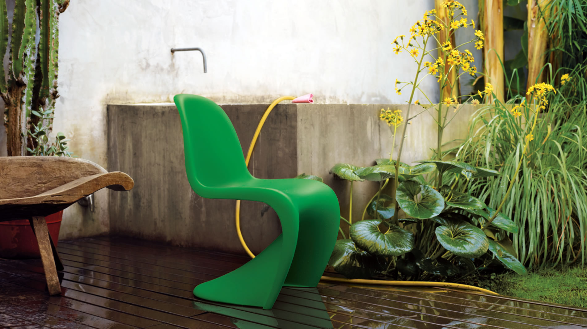 Panton Chair Summer Green Vitra
