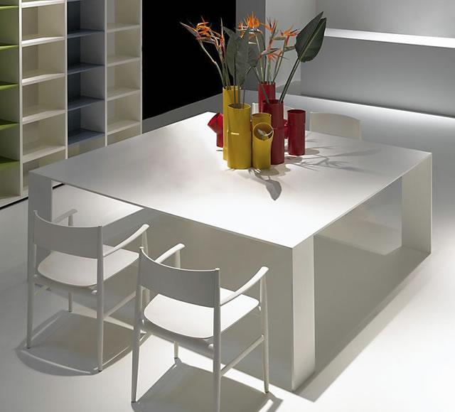 Tavoli quadrati allungabili di design | Higrelays
