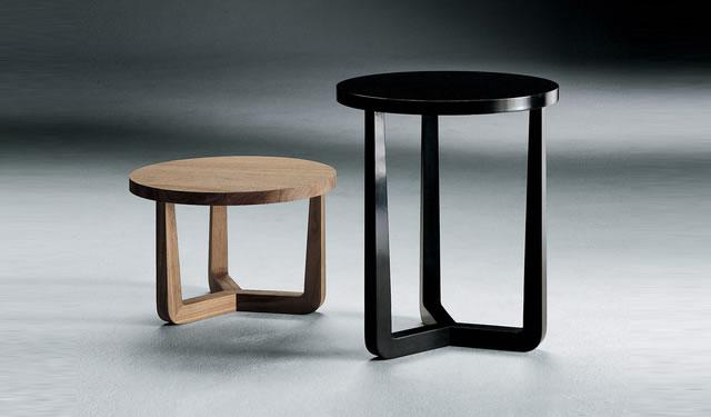 Tavolini Da Salotto Rotondi Alto E Basso Con Struttura Shabby Grey ...