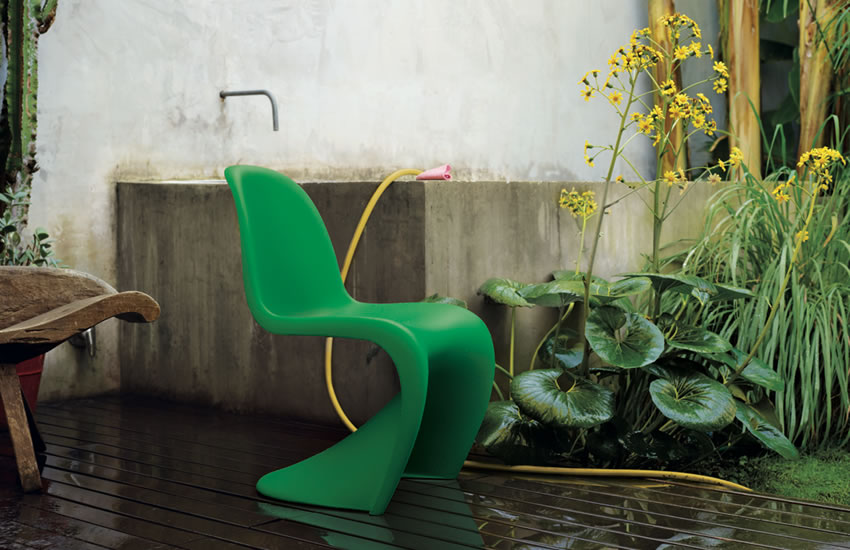 special offer st hle panton chair summer green vitra. Black Bedroom Furniture Sets. Home Design Ideas